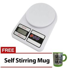 7KG/1G LCD Electronic Kitchen Weighing Scale with Self Stirring Mug (Green)