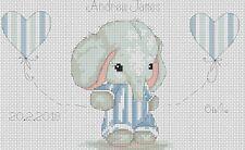 Cross stitch chart-Nuovo Bambino Nascita campionatore Elefante 4 Flowerpower 37-uk