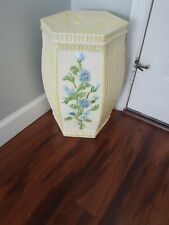 Vintage Yellow Garden Stool Hollywood Regency