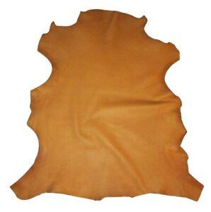 Premium Buckskin Tan Garment Grade Sheepskin Leather Hide Super Soft 2.5 oz