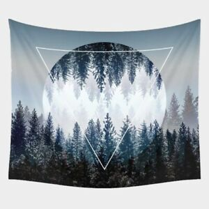 Geometric Forest Wall Tapestry