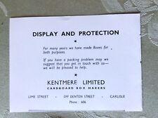A2e ephemera advert undated kentmere limited carlisle box makers