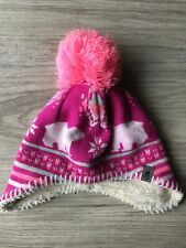 The North Face Baby Girl Winter Hat Size XS-TP 6-24 months Warm Tassel