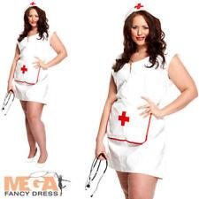 Infermiera Sexy UK 16-18 Donna Costume Uniforme Adulti Costume Taglie Forti Da Donna