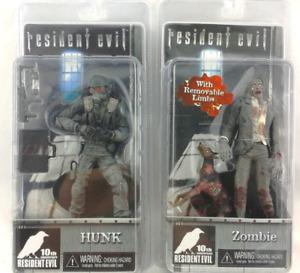 Resident Evil 10e anniversaire NECA Zombie avec figurine Cerberus Dog and Hunk