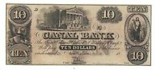 1800s $10 Canal Bank of New Orleans Obsolete Currency