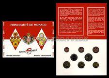 PRINCIPATO DI MONACO 2002 - FOLDER DIVISIONALE UFFICIALE 8 MONETE EURO 2002