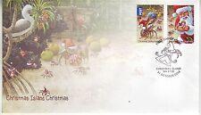 CHRISTMAS Island 2014 Christmas Set of 2  on FDC.