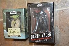 Star Wars DARTH VADER & YODA Statue/Figure & Booklet  NEW