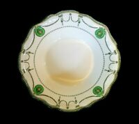 Beautiful Royal Doulton Countess Green Rim Serving Bowl Circa 1920