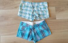 2 fab lightweight ladies checked sexy shorts 8