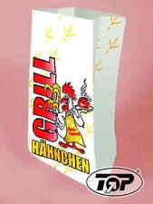500 Warmhaltebeutel Hähnchenbeutel Hähnchentüten 2-lagig für 1/2 Hähnchen