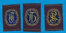 TURMAC TOBACCO WOVEN SILK ILLUSTRATED MONOGRAMS SER. C PURPLE SILKS 3