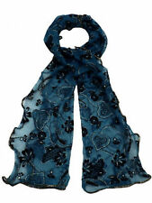 Ladies 91164 Oriental Green heart scarf By Unbranded £ 4.99
