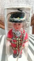 """Vintage British Royal  yeomen Beefeaters Queens Guard 4"""" plastic Doll"""