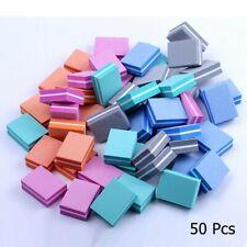 50pcs lot Double-sided Mini Nail File Blocks Colorful Sponge Nail Polish Sanding