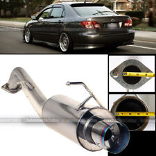 For 03-07 Corolla Stainless Steel Bolt On Axle Back Exhaust Muffler Green Tip