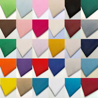 100% Cotton Plain Fabric - 150cm Width for Craft Use - 30 Colours - Fat Quarters