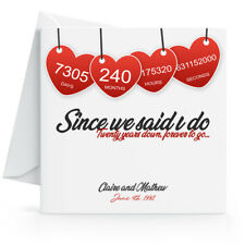 Personalised 20th Wedding Anniversary Card with Printed Hearts Twentieth Year