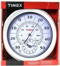 Timex Jumbo Indoor & Outdoor Thermometer With Quartz Clock 11 1/6 In Diameter