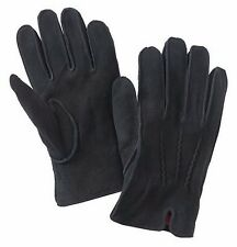 Dockers Mens Black Suede Sueded Deerskin Knit Lined Performance Gloves