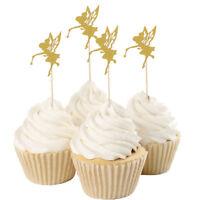 10pcs Glitter Fairy Cake Topper Cupcake Picks for Wedding Christmas Party