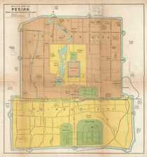 1921 Crow Map of Beijing (Peking), China