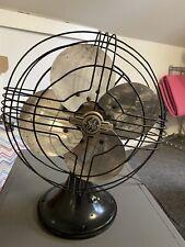 "Vintage 1940sGE General Electric 11"" Oscillating Fan 75x806 Spec2782890-1 Metal"