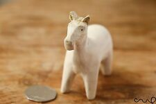 Hand-carved Handmade Wooden Horse Donkey Craft Art Colouring Home Decor Gift