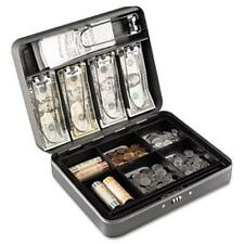 Steelmaster 2216190G2 Cash Box with Combination Lock  12 in  Charcoal