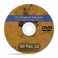 Nebraska, NE, People Cities, Family History and Genealogy 21 Books DVD CD B09