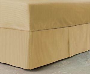 Unisex Baby Bedding Striped Box Pleat Skirt All Colors Crib/Mini crib/Toddler