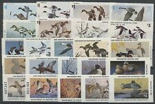 IOWA STATE HUNTING PERMIT STAMPS (23) DIFF. 1972-1994 MINT CV $917 BS7675