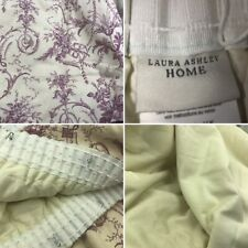 """Pair Laura Ashley Cotton Linen Curtains Cranberry Red Scroll 46"""" Wide 55 """" Drop"""