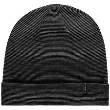 O'NEILL MENS BEANIE.NEW ECO ALL YEAR LOOSE FIT BLACK/GREY KNITTED HAT 8W 30 9010