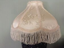 Vintage Small Cream Floral Victorian Fringe Tassels Lampshade Lamp Shade