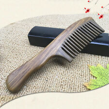 1PC Wooden Sandalwood Wide Tooth Wood Comb Natural Head Massager Hair Combs AU