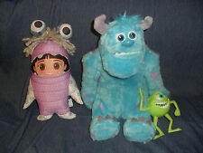 My Scare Sulley MONSTERS INC & BOO Disney Pixar Talking Plush & PVC Mikey figure