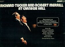 RICHARD TUCKER AND ROBERT MERRILL AT CARNEGIE HALL GEORGE SCHICK faire LP L9729