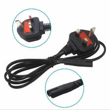 1M Power Cord UK 3 Pin Plug to C7 Figure 8 Power Lead Fig 8 Power Cable Mains