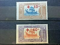 TUNISIE, 1916, post stamps of Tunisie with ships and boat. African post stamps