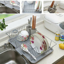 Large Kitchen Dish Drainer Cutlery Washing Holder Plates Bowls Utensils Dry Rack