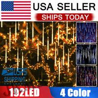 Falling Raindrop Lights LED Meteor Shower Christmas Lights 11.8 in 8 Tube 192Led