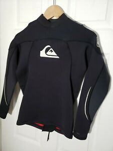 Quicksilver Youth Syncro Top 1.5mm Long Sleeve Surf Swim Black Size Medium
