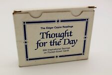 Edgar Cayce ' Thought for the Day' 200 Inspriational Sayings Pocket Sized Cards