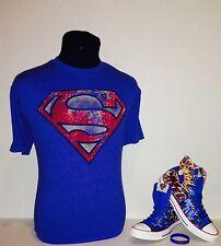 "Converse CT Hi DC Comics ""Superman"" SZ 9 w/matching shirt Size L"