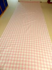 New Pink and white checked/Gingham Curtain Material x 6m