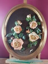 LOVELY ROSES - ROYLE FINE CHINA WALL PLAQUE BY E. MORRIS SEE DESCRIPTION
