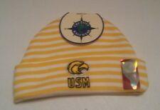 Newborn Knit Beanie Hat USM Southern Mississipi NWT by Creative Knitwear Yellow