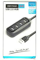 Vention 4 Port USB HUB 2.0 Portable OTG HUB 480Mbps USB Splitter with LED Lamp